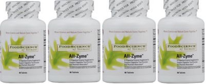 Food Science All-Zyme (90 tabs) 4-Pack