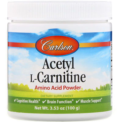 Carlson Acetyl L-Carnitine Amino Acid Powder 3.53 oz(100gm)