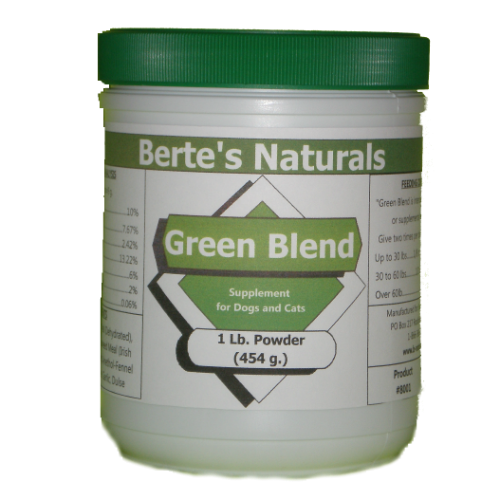 Berte's Green Blend Sea Vegetation Minerals and Vitamins for Dogs, Cats and Birds (1lb) - Click Image to Close