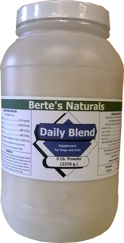 Berte's Daily Blend Vitamins for Dogs (5 lb) - Click Image to Close