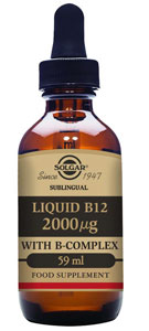 Solgar Liquid B Complex w/ B-12 Sublingual 2 oz(59 ml)